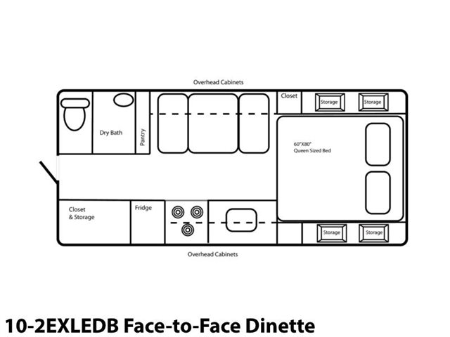 10-2EXLEDB Face-to-Face Dinette at Prosser's Premium RV Outlet