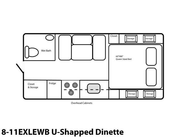 8-11EXLEWB U-Shaped Dinette at Prosser's Premium RV Outlet
