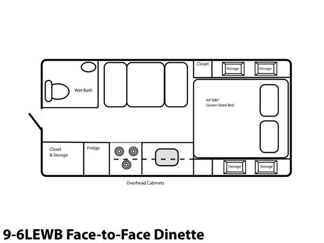9-6LEWB Face-to-Face Dinette at Prosser's Premium RV Outlet