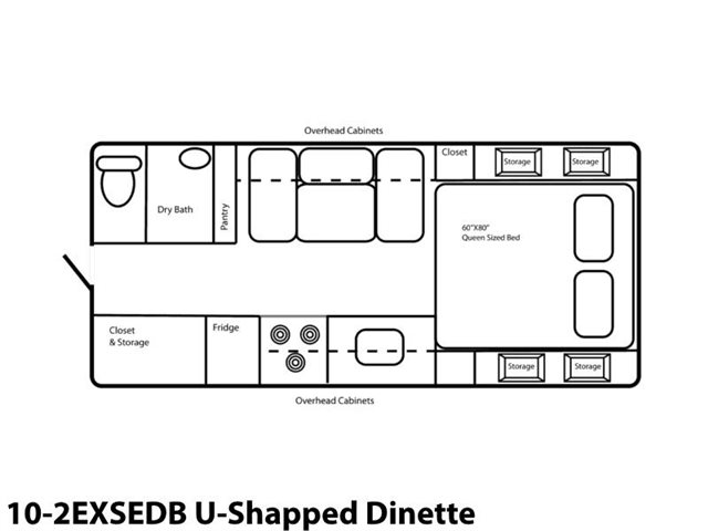 10-2EXSEDB U-Shaped Dinette at Prosser's Premium RV Outlet