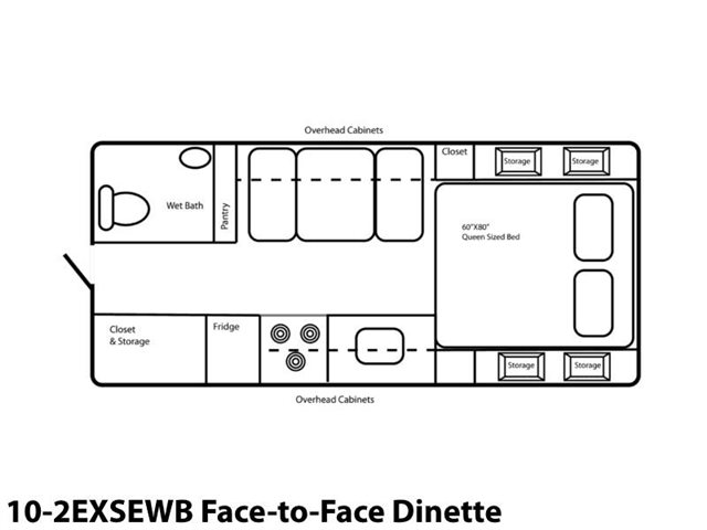 10-2EXSEWB Face-to-Face Dinette at Prosser's Premium RV Outlet