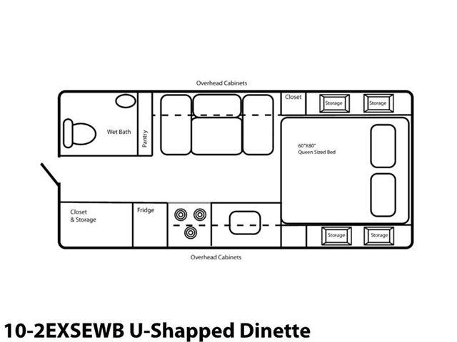 10-2EXSEWB U-Shaped Dinette at Prosser's Premium RV Outlet