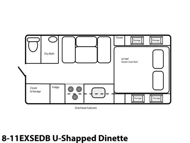 8-11EXSEDB U-Shaped Dinette at Prosser's Premium RV Outlet