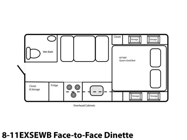 8-11EXSEWB Face-to-Face Dinette at Prosser's Premium RV Outlet