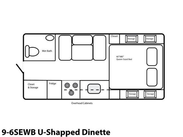 9-6SEWB U-Shaped Dinette at Prosser's Premium RV Outlet