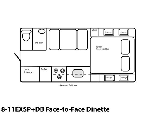 8-11EXSP+DB Face-to-Face Dinette at Prosser's Premium RV Outlet