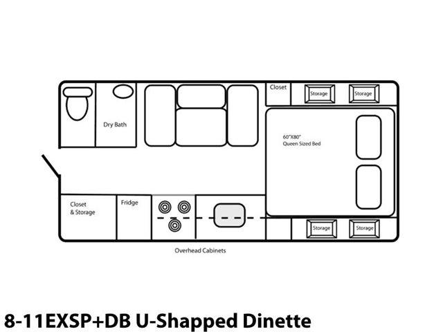 8-11EXSP+DB U-Shaped Dinette at Prosser's Premium RV Outlet