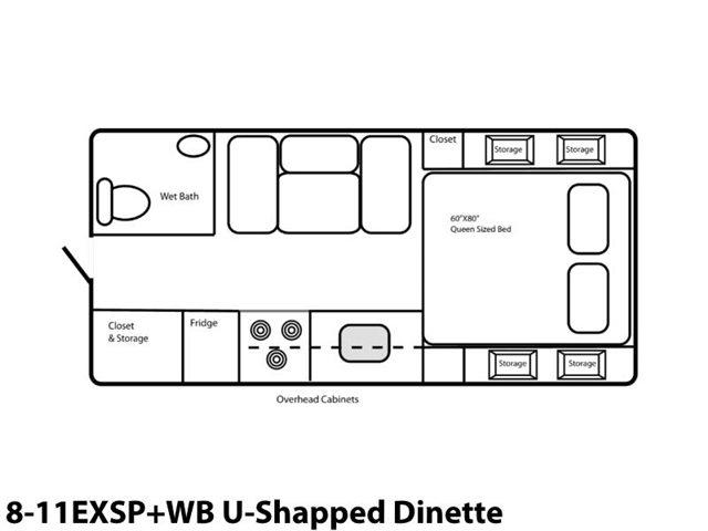 8-11EXSP+WB U-Shaped Dinette at Prosser's Premium RV Outlet