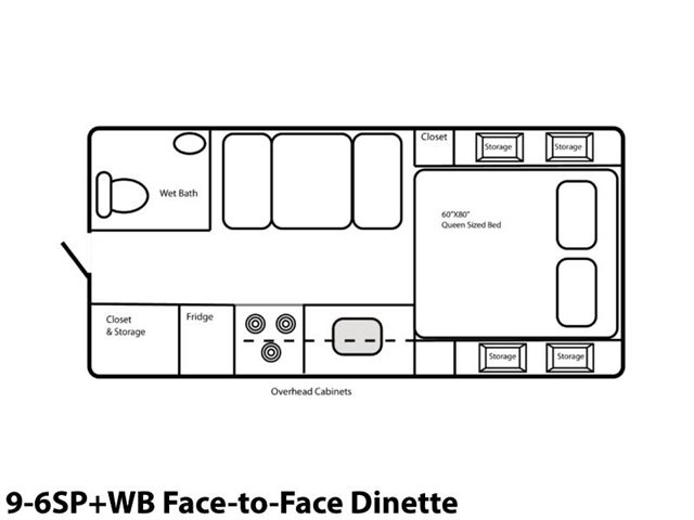 9-6SP+WB Face-to-Face Dinette at Prosser's Premium RV Outlet