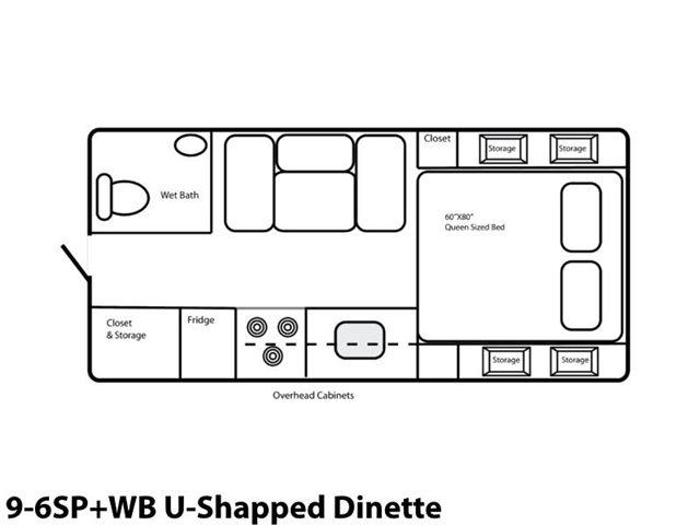9-6SP+WB U-Shaped Dinette at Prosser's Premium RV Outlet