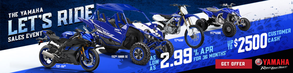 Yamaha Let's Ride Sales Event at Nishna Valley Cycle