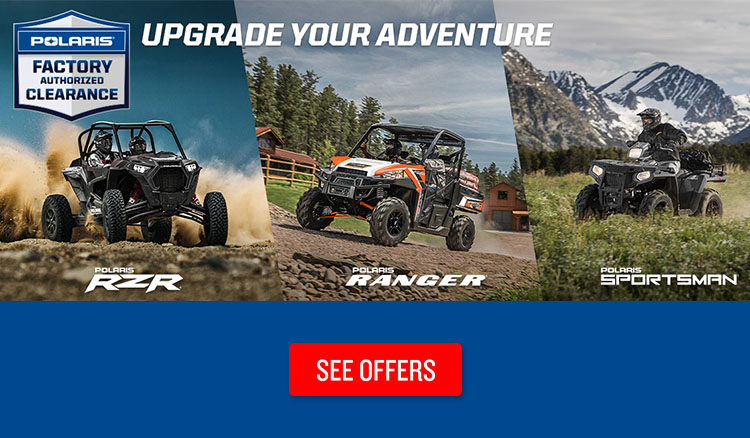 Polaris Factory Authorized Clearance at Reno Cycles and Gear