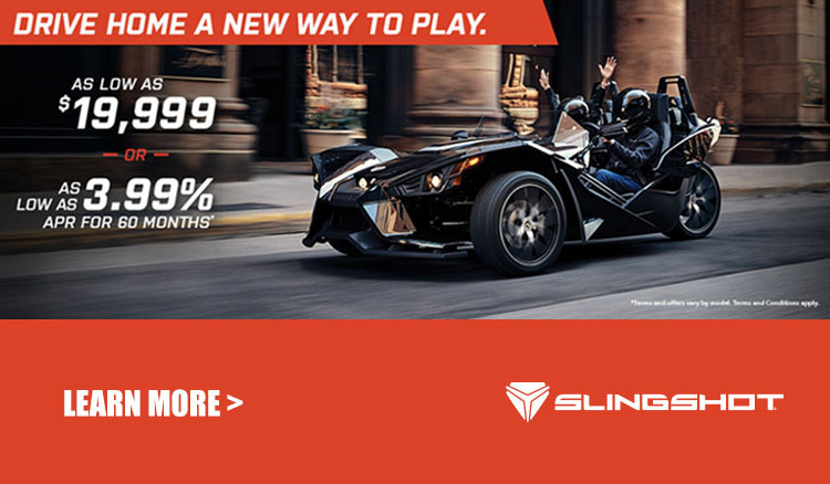 Polaris Slingshot Drive Home Promotion at Reno Cycles and Gear