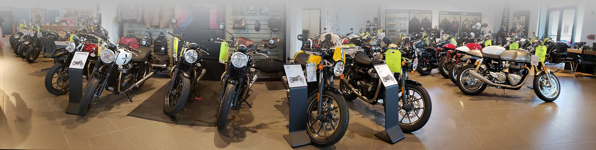 Triumph Showroom at Stu's Motorcycles