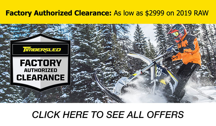 Timbersled Factory Authorized Clearance at Reno Cycles and Gear