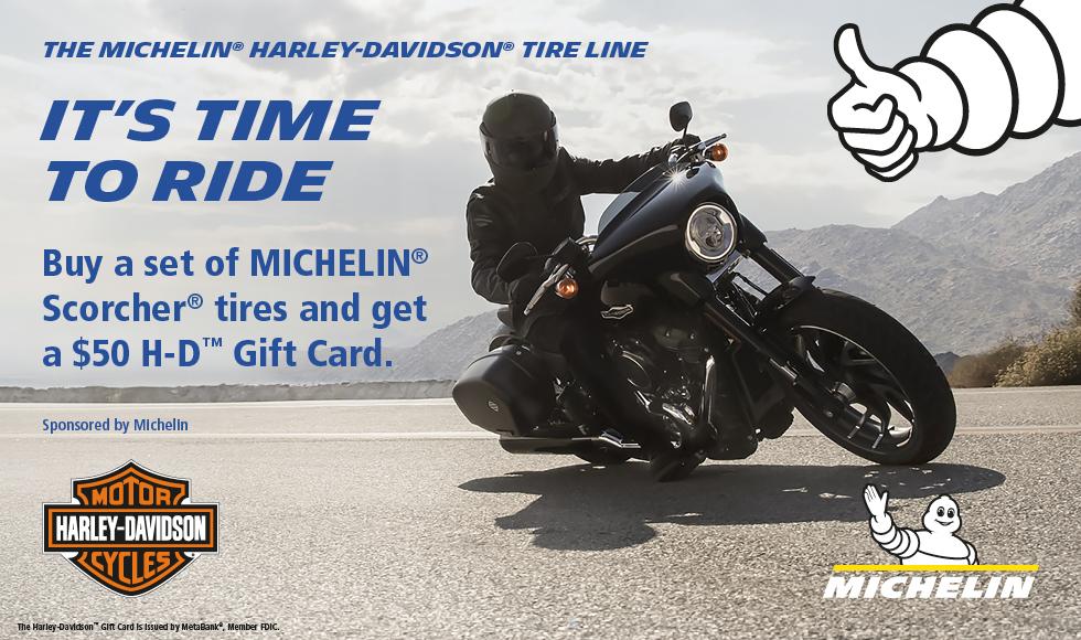 Harley-Davidson 2019 SUMMER MICHELIN® TIRE REBATE PROMOTION at Bumpus Harley-Davidson of Collierville
