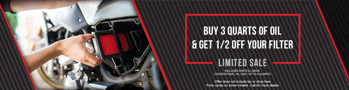 Buy 3 Quarts of Oil & Get Half Off Your Filter At Genthe Honda Powersports