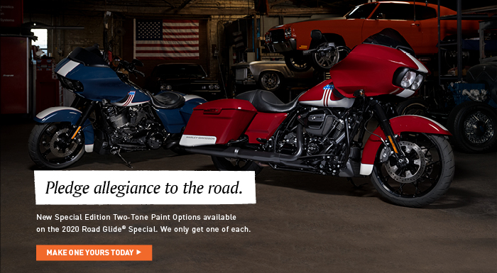New Special Edition Two-Tone Paint Options Available On The 2020 Road Glide Special