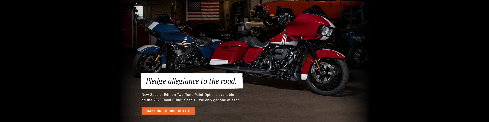 Road Glide Special 2-tone paint at Texas Harley-Davidson