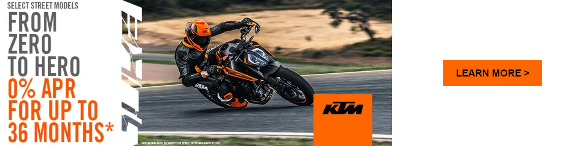 KTM From Zero to Hero Promotion at Ride Center USA