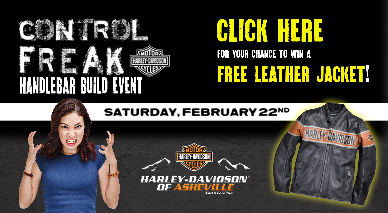 free leather jacket harley-davidson giveaway