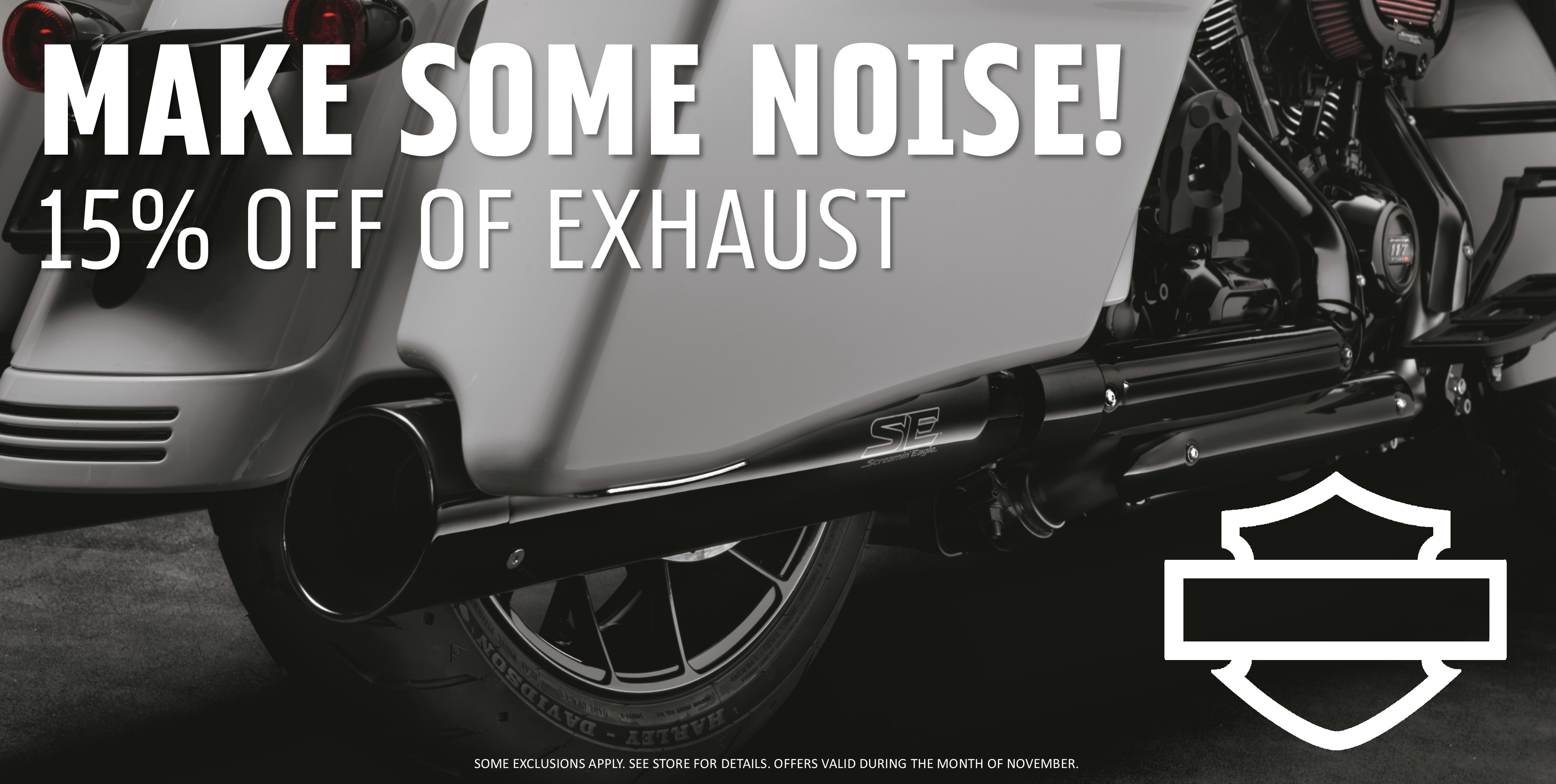 Make some Noise! 15% off of Exhaust!