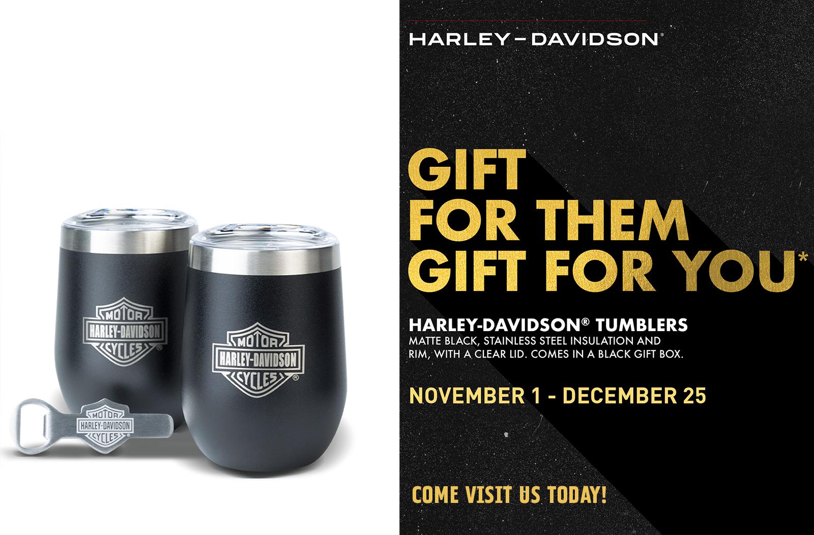 Harley-Davidson Holiday 2020 Gift with Purchase - Tumbler Set