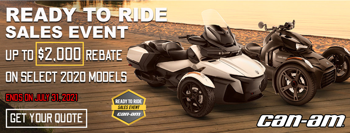 Can-Am On Road Ready to Ride Sales Event at Sun Sports Cycle & Watercraft, Inc.