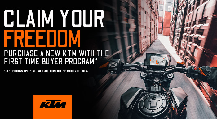 KTM's Claim your Freedom at Shreveport Cycles