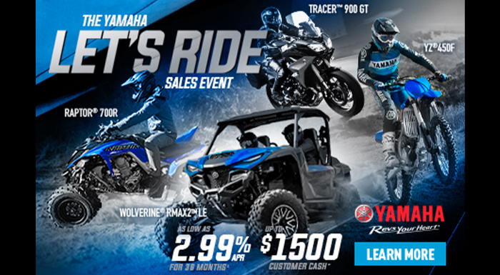 Yamaha Let's Ride Sales Event at Sun Sports Cycle & Watercraft, Inc.