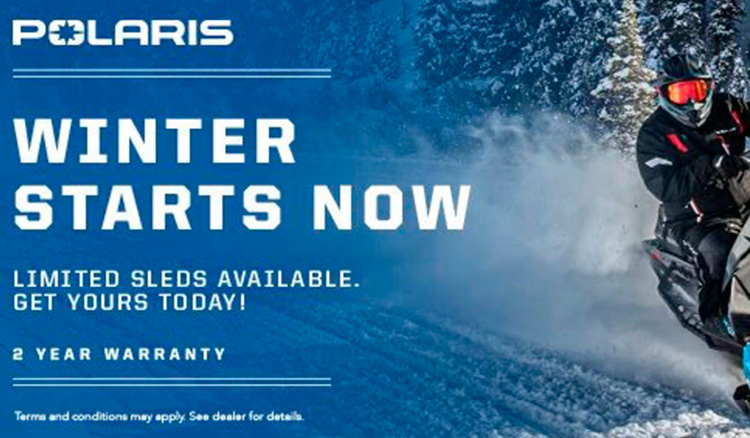 Polaris Snowmobile - Winter Starts Now Sales Event at Cascade Motorsports