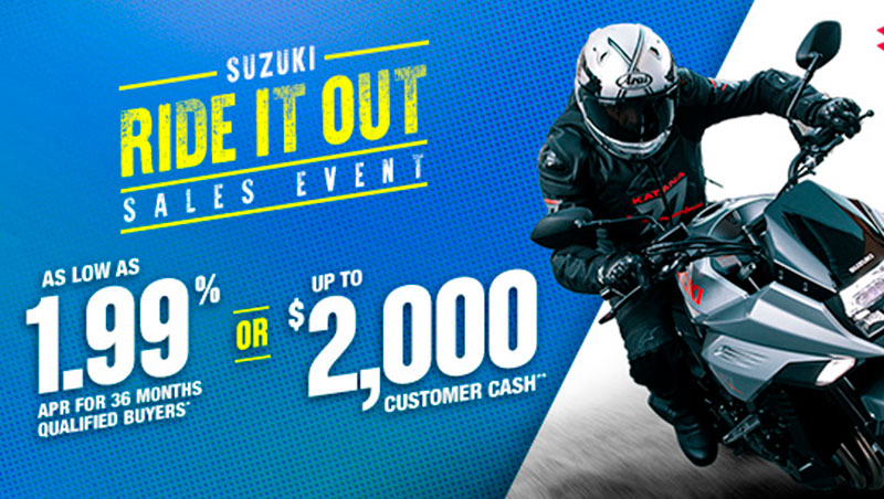 Suzuki - Ride It Out Sales Event at Arkport Cycles