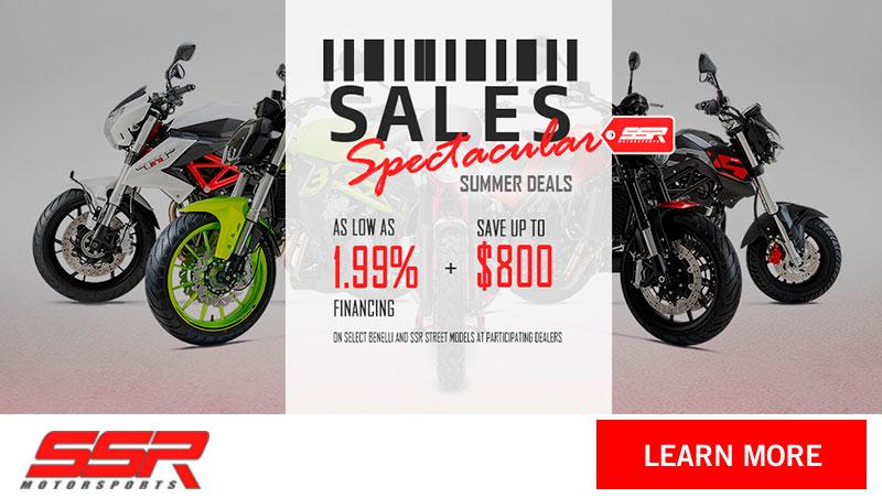 SSR Motorsports Models - Sales Spectacular Summer Deals at Thornton's Motorcycle - Versailles, IN
