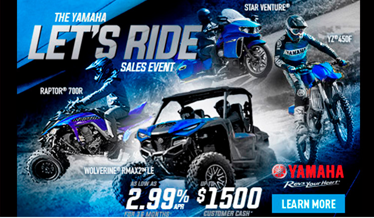 YAMAHA - LET´S RIDE SALES EVENT at Youngblood RV & Powersports Springfield Missouri - Ozark MO