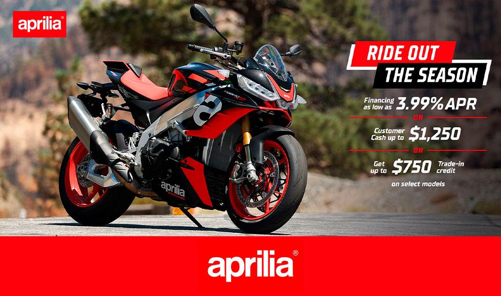 "Aprilia – ""Ride Out The Season"" at Sloans Motorcycle ATV, Murfreesboro, TN, 37129"