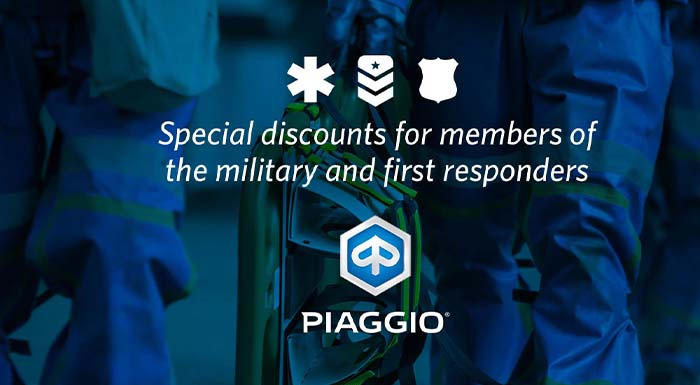 Piaggio - Military & First Responders at Aces Motorcycles - Fort Collins