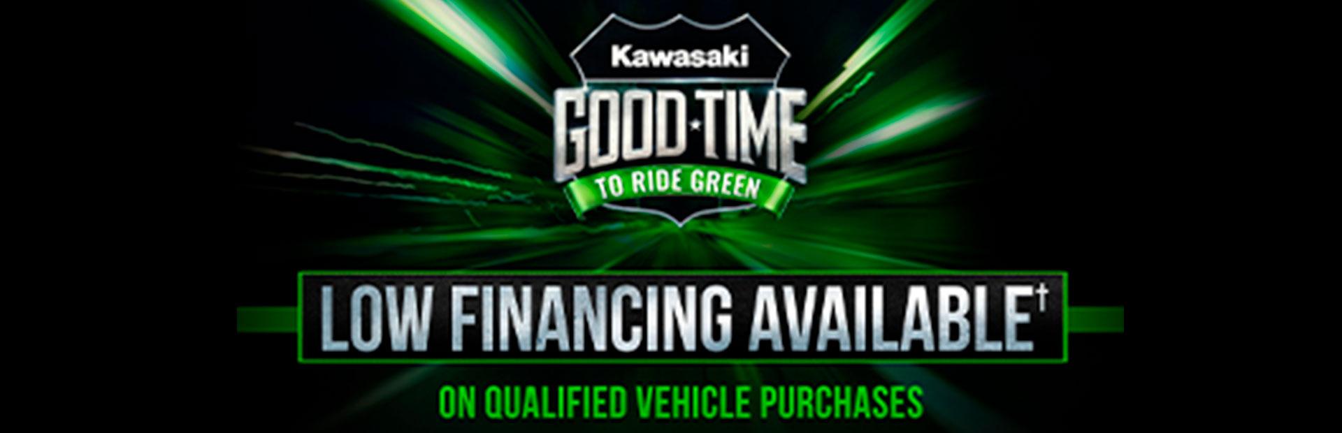 KAWASAKI - GOOD TIME TO RIDE GREEN at Clawson Motorsports