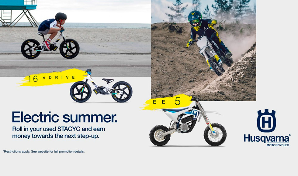 Electric Summer STACYC Trade Up Incentive Program at Action Cycles 'n Sleds