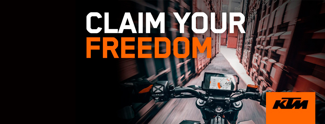 KTM - CLAIM YOUR FREEDOM at Ride Center USA