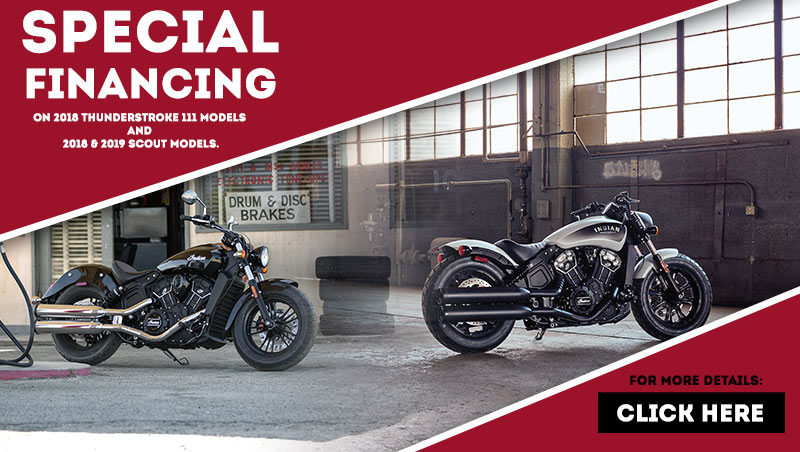 Scout Line-Up Financing at Reno Cycles and Gear, Reno, NV 89502