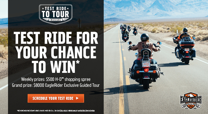 Test Ride to Tour Sweepstakes at Gruene Harley-Davidson