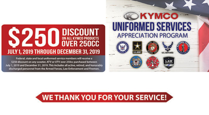 2019 Uniformed Services Appreciation Program at Thornton's Motorcycle - Versailles, IN