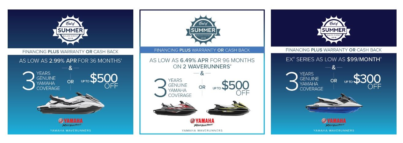 Waverunner End of Summer Sales Event at Pete's Cycle Co., Severna Park, MD 21146