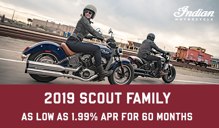 PROMOTIONAL FINANCING - 2019 SCOUT FAMILY at Indian Motorcycle of Northern Kentucky