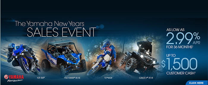 New Year's Sales Event at Yamaha Triumph KTM of Camp Hill, Camp Hill, PA 17011