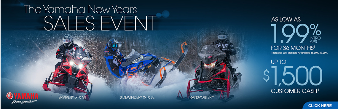 Snowmobile New Year's Sales Event at Yamaha Triumph KTM of Camp Hill, Camp Hill, PA 17011