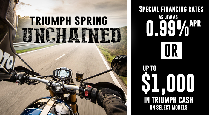 Triumph Spring Unchained Sales Event at Fort Myers