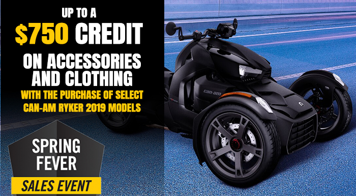 SPRING FEVER SALES EVENT CAN-AM RYKER at Pete's Cycle Co., Severna Park, MD 21146