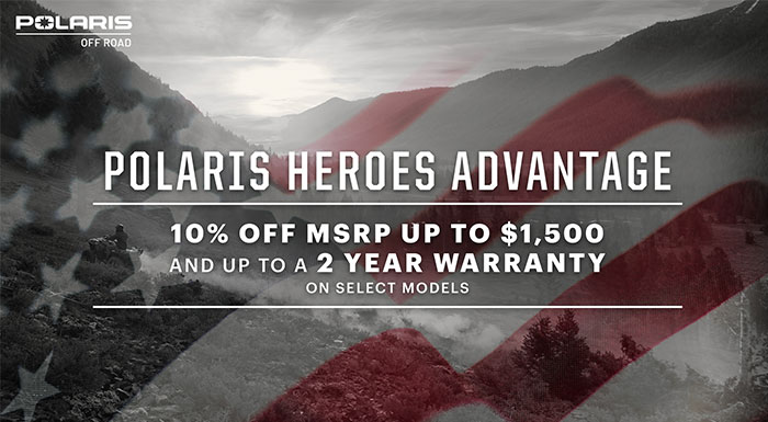 Polaris Heroes Advantage at Sloans Motorcycle ATV, Murfreesboro, TN, 37129
