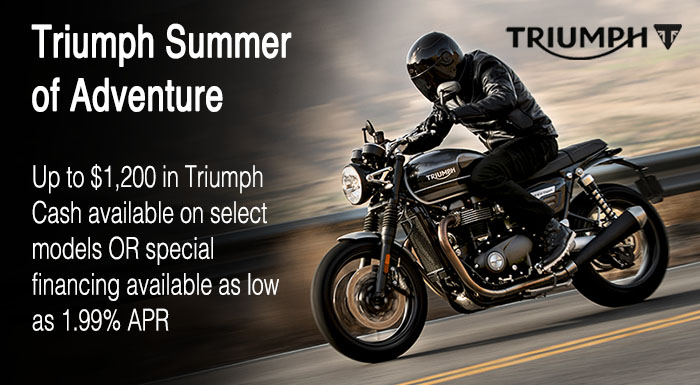 Triumph Summer Of Adventure at Frontline Eurosports